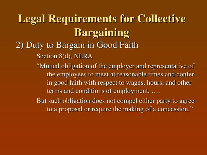 Legal requirements for collective bargaining2