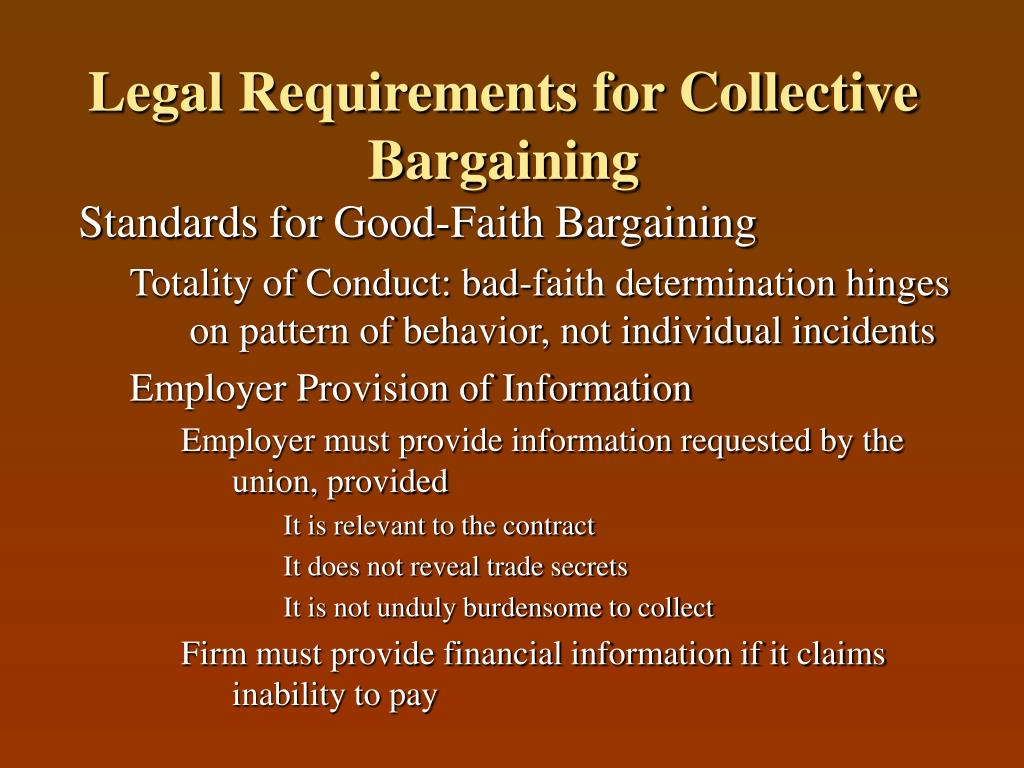 Legal Requirements for Collective Bargaining