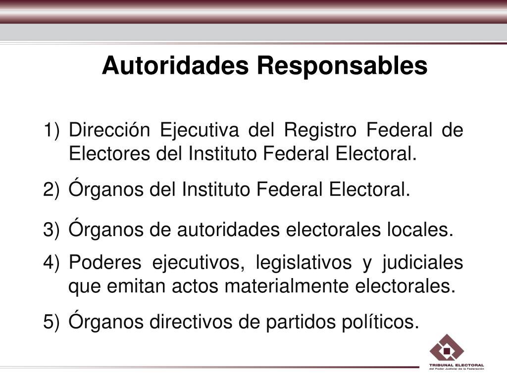 Autoridades Responsables