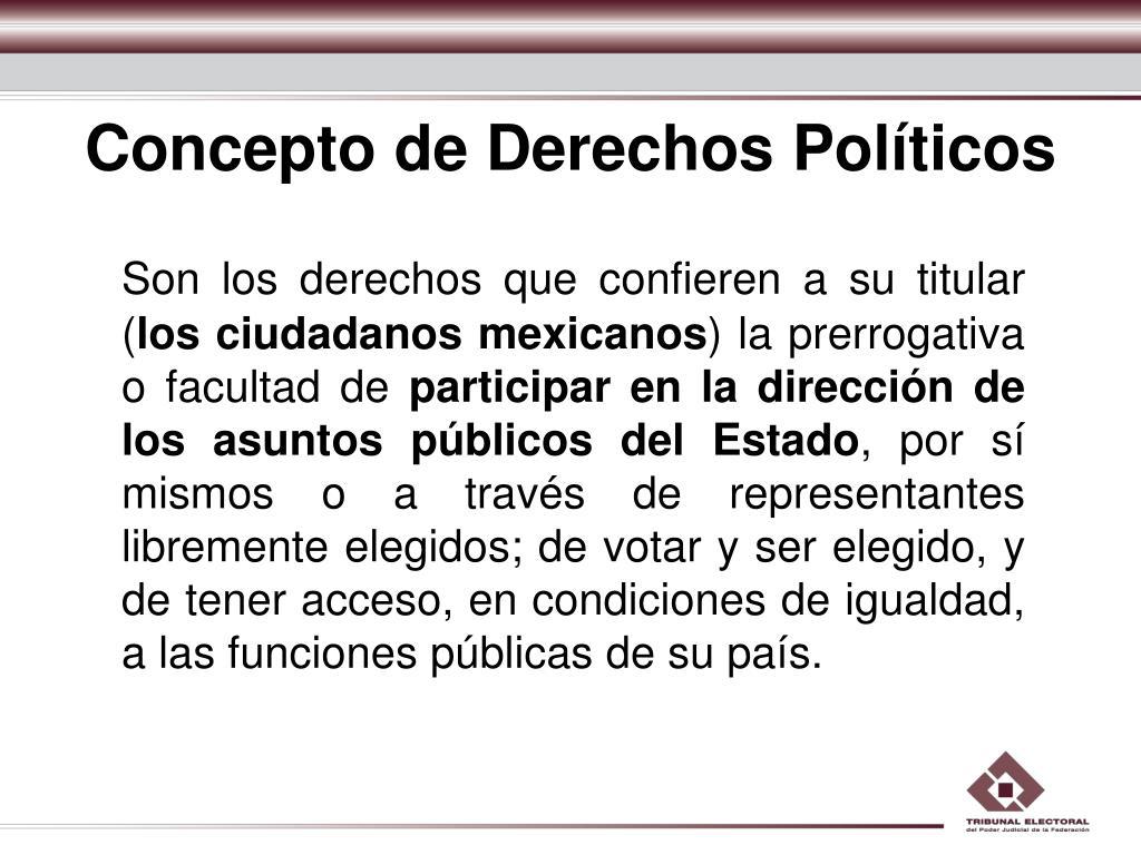 Concepto de Derechos Políticos