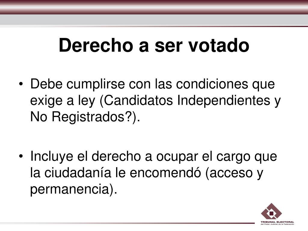 Derecho a ser votado