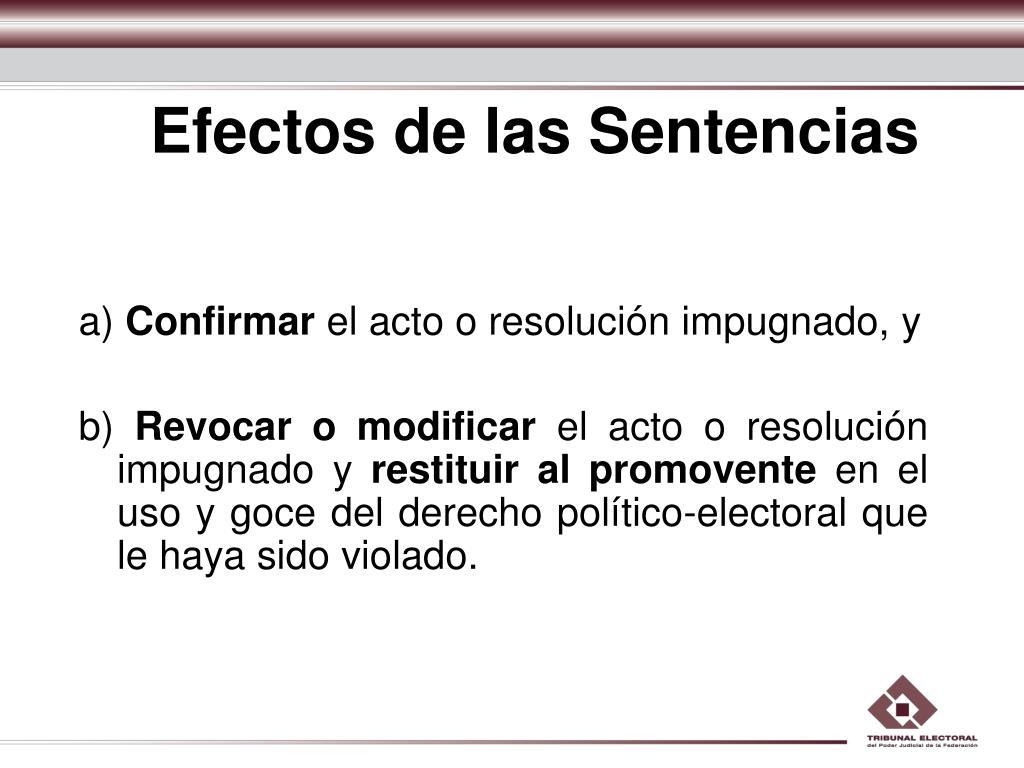 Efectos de las Sentencias