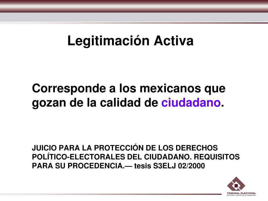 Legitimación Activa