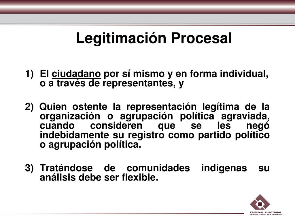 Legitimación Procesal