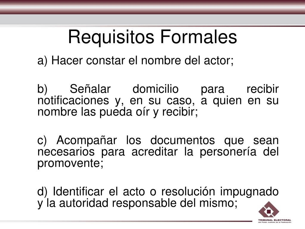 Requisitos Formales
