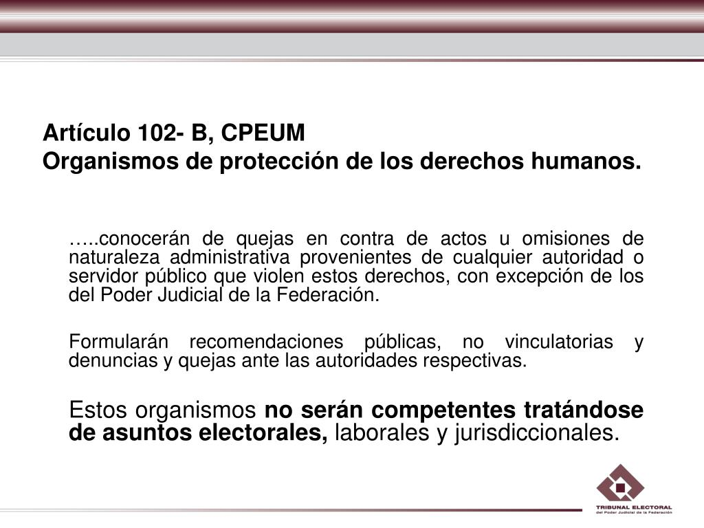 Artículo 102- B, CPEUM