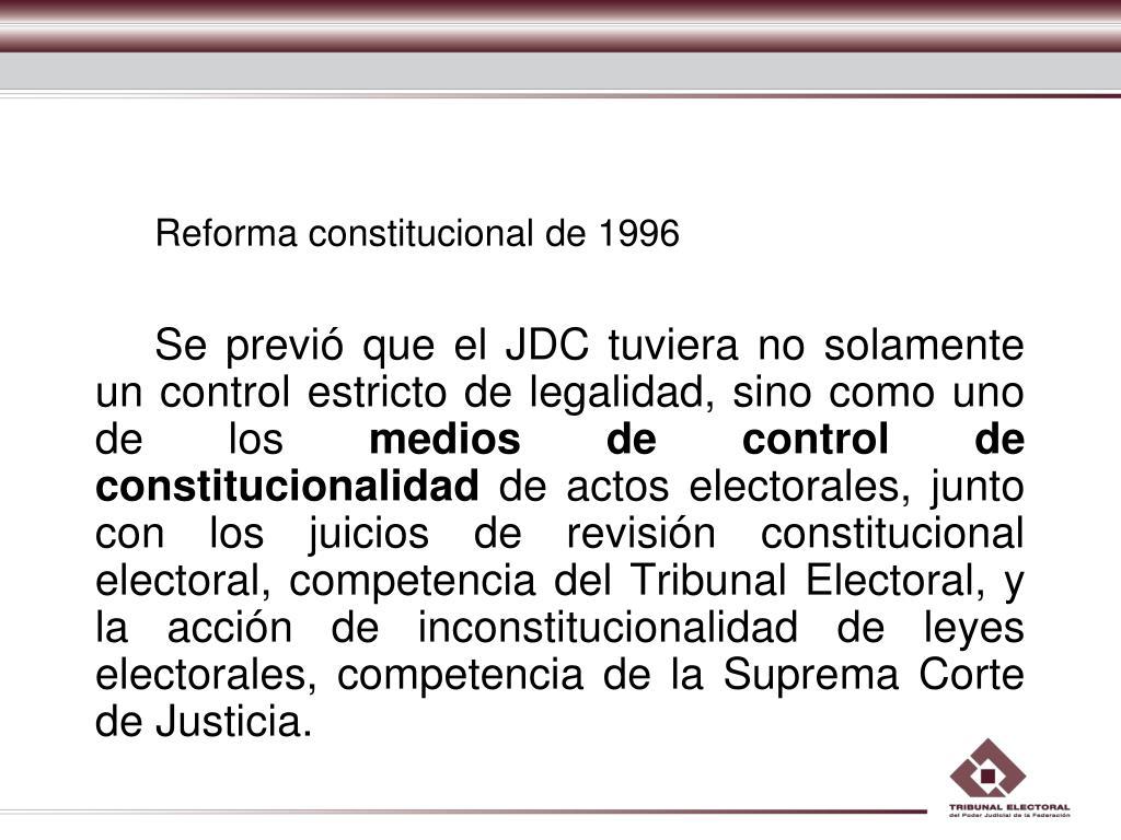 Reforma constitucional de 1996