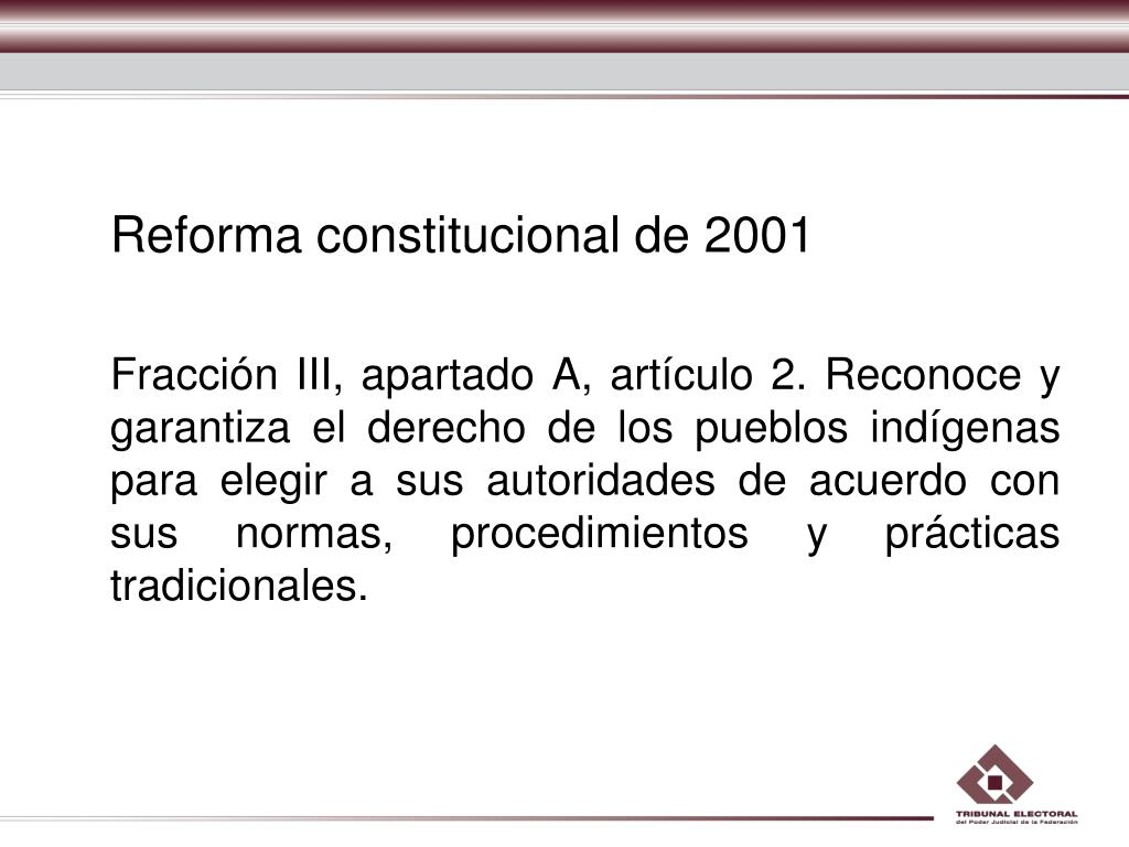 Reforma constitucional de 2001