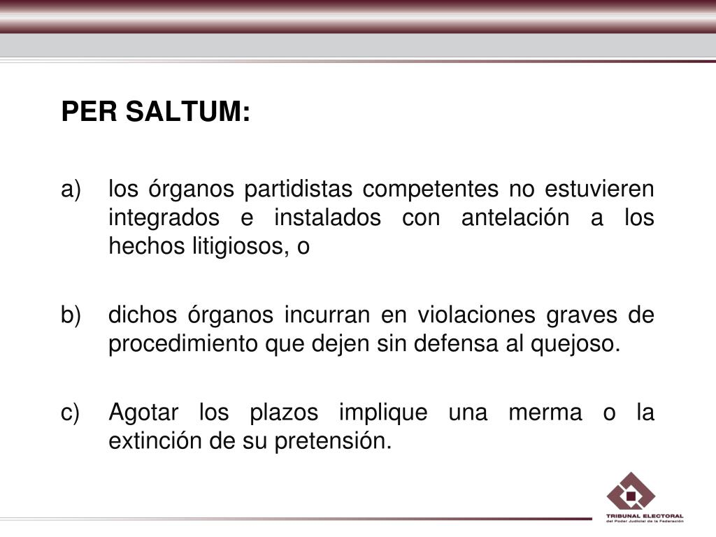 PER SALTUM: