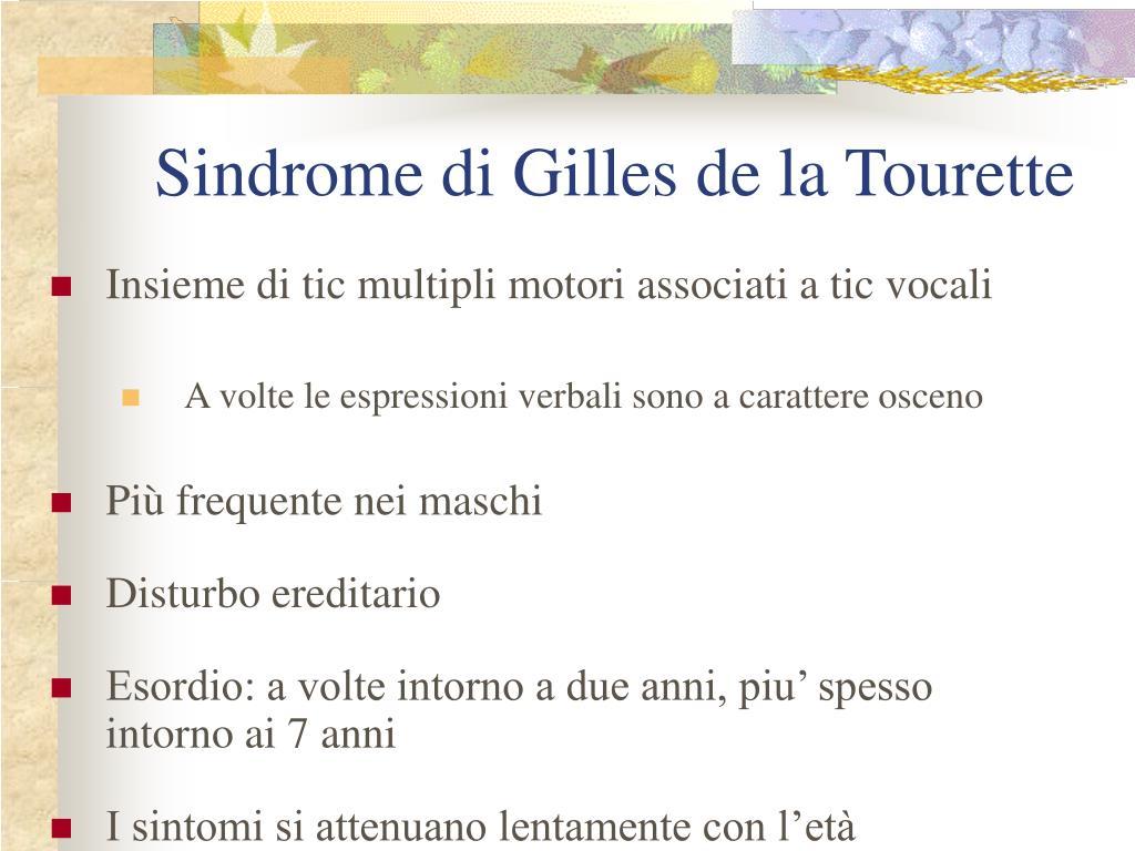 Sindrome di Gilles de la Tourette