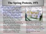 the spring protests 1971