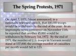 the spring protests 197139