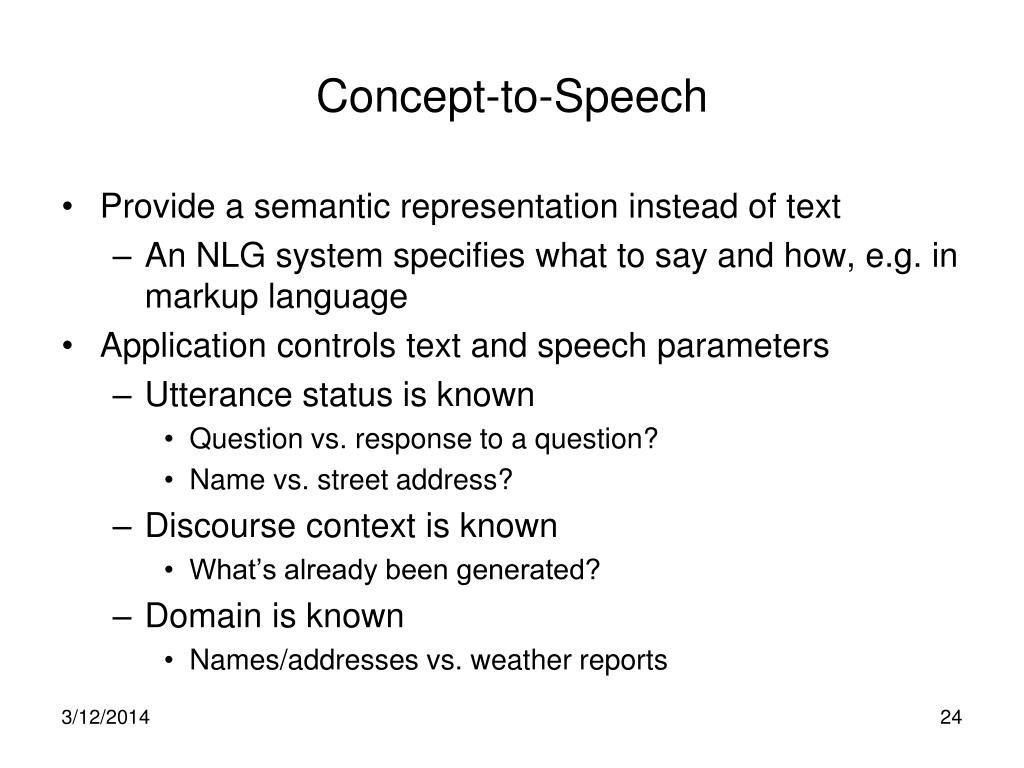 Concept-to-Speech