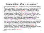 segmentation what is a sentence