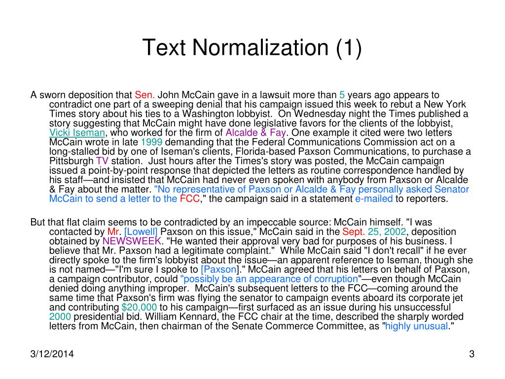 Text Normalization (1)