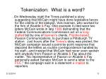 tokenization what is a word