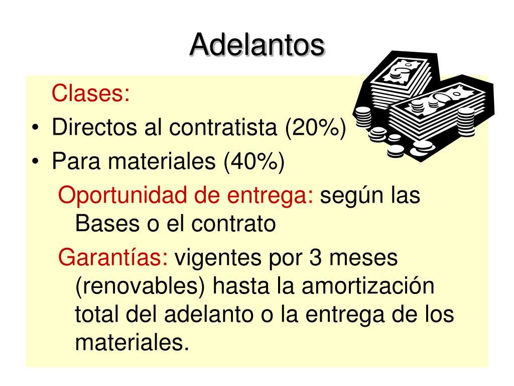 Adelantos