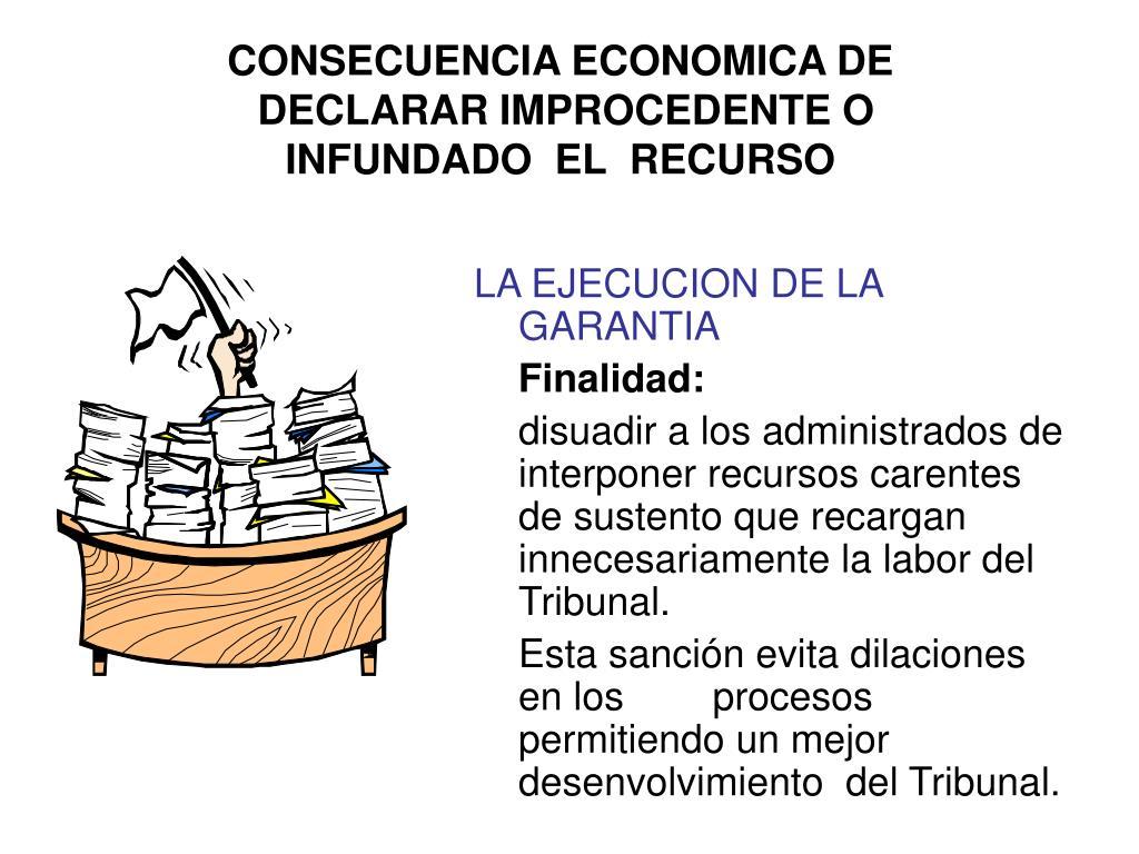 CONSECUENCIA ECONOMICA DE