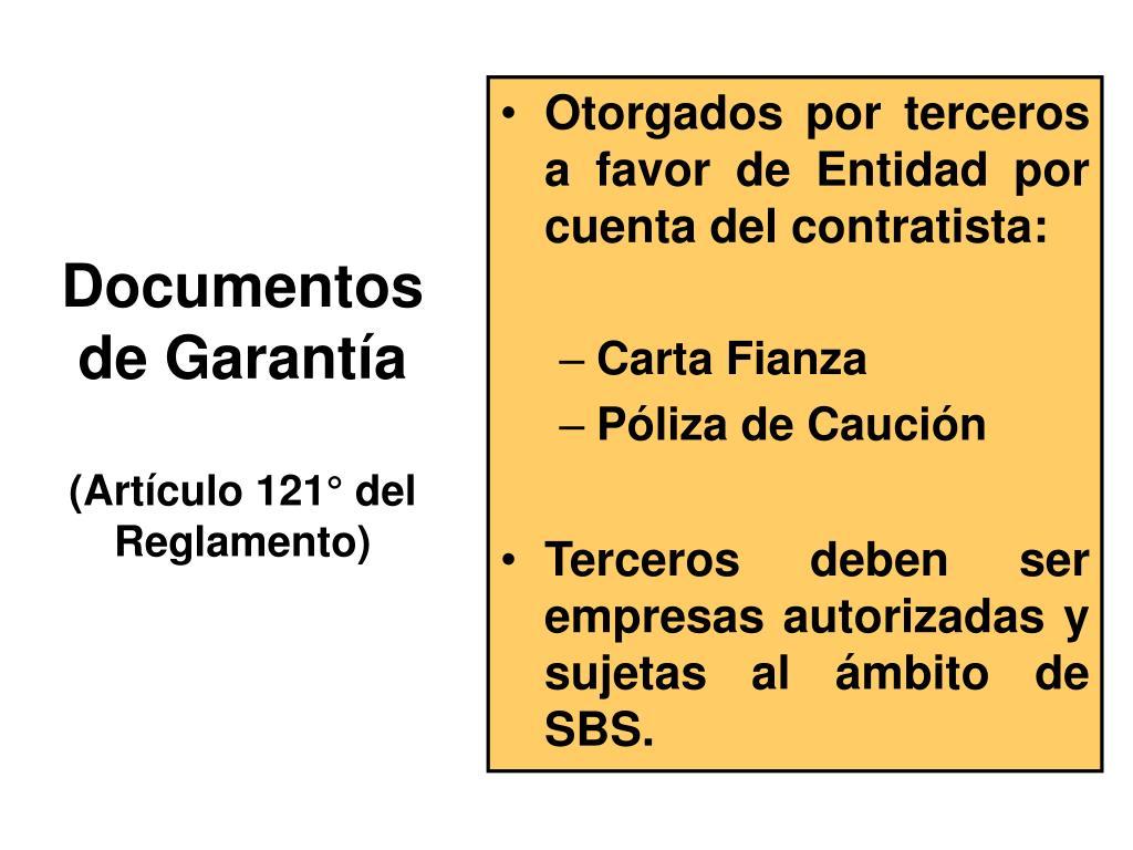 Documentos de Garantía