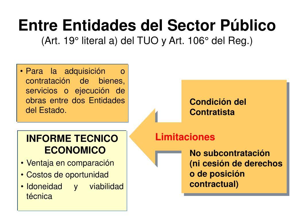 Para la adquisición  o contratación de bienes, servicios o ejecución de obras entre dos Entidades del Estado.