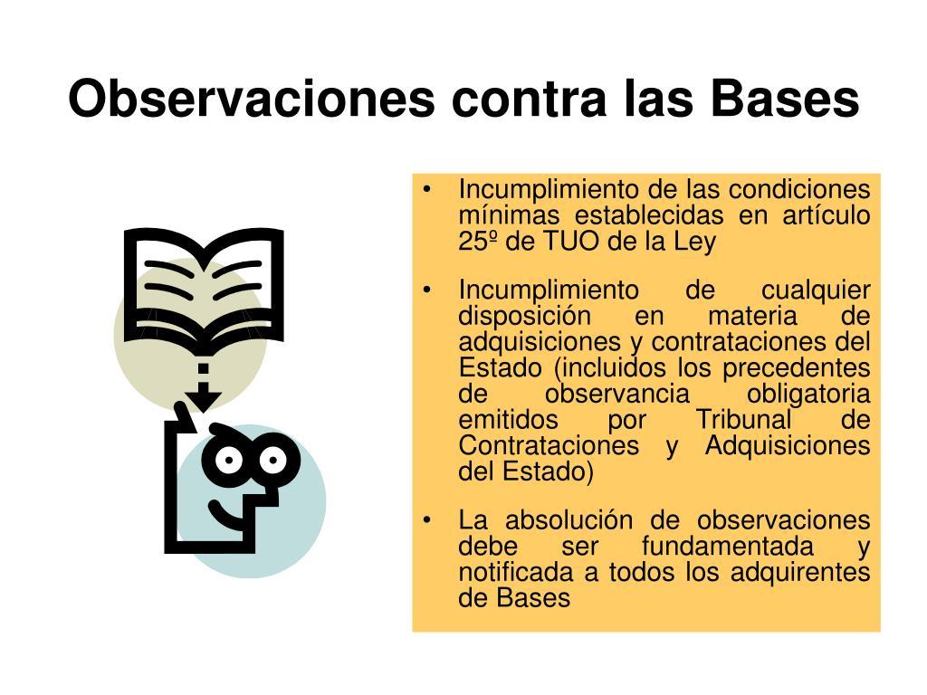 Observaciones contra las Bases