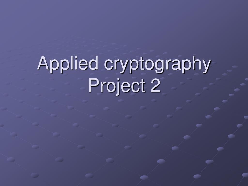 applied cryptography project 2
