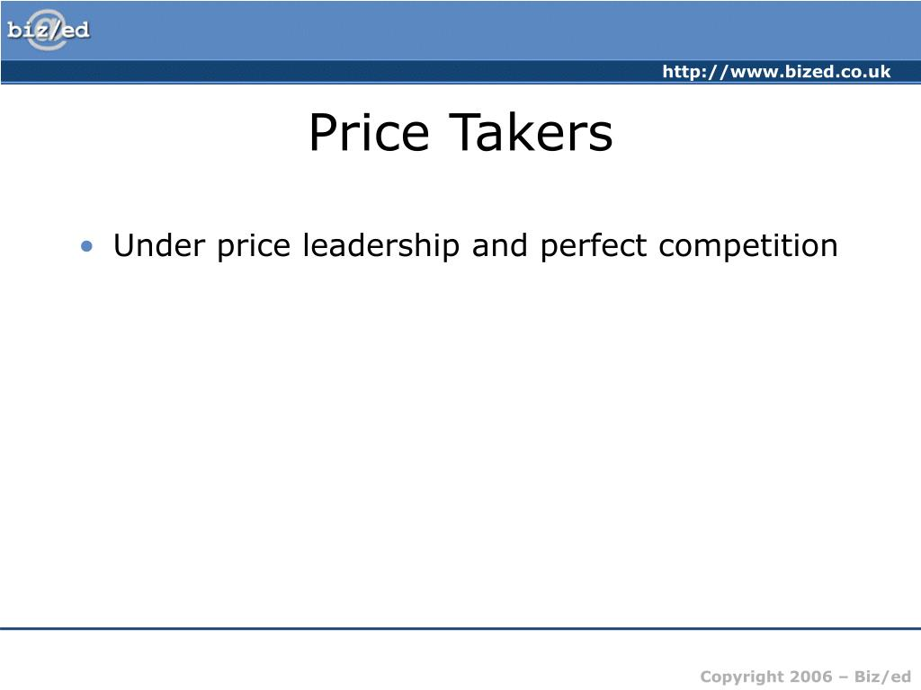 Price Takers