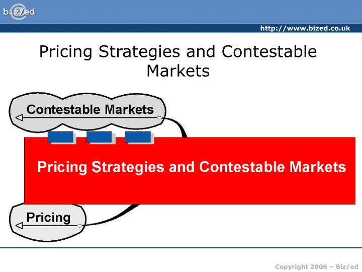 Pricing strategies and contestable markets2