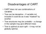 disadvantages of cart