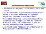 environmental inspections