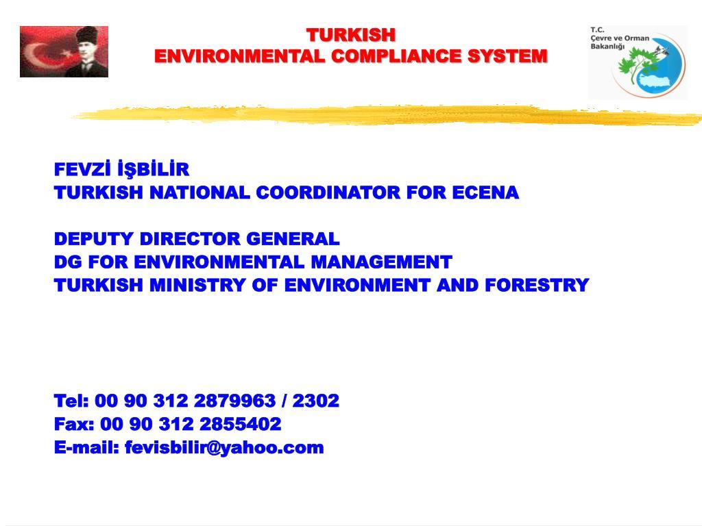 turkish environmental compliance system