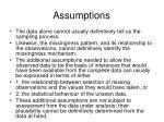assumptions11