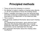 principled methods