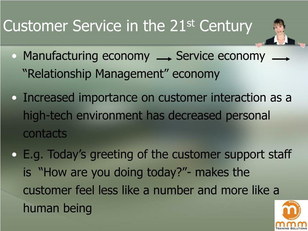 Customer Service in the 21