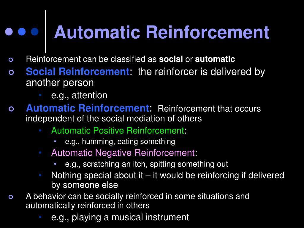 Automatic Reinforcement