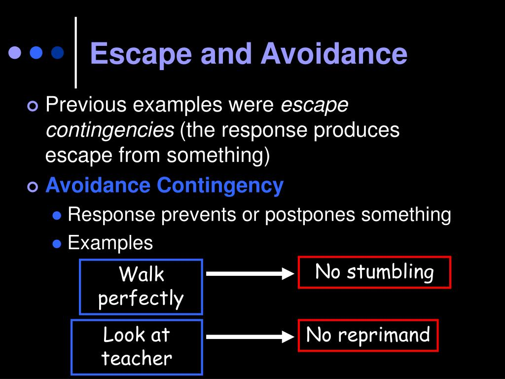 Escape and Avoidance