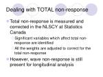 dealing with total non response
