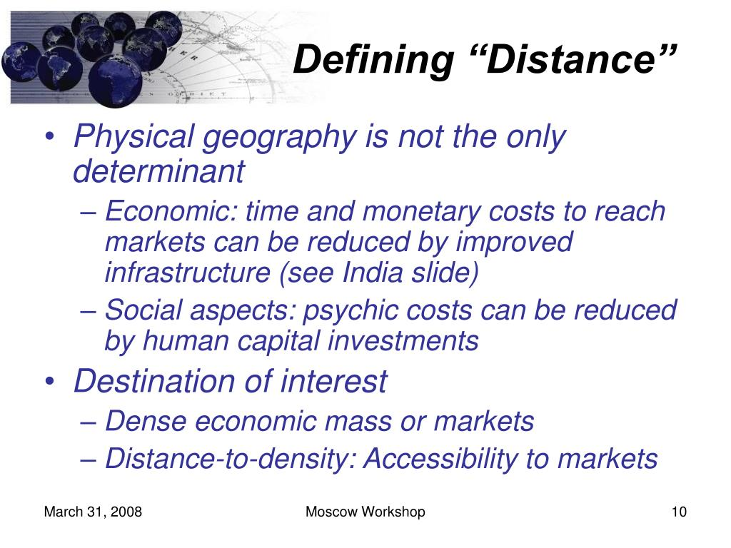"Defining ""Distance"""