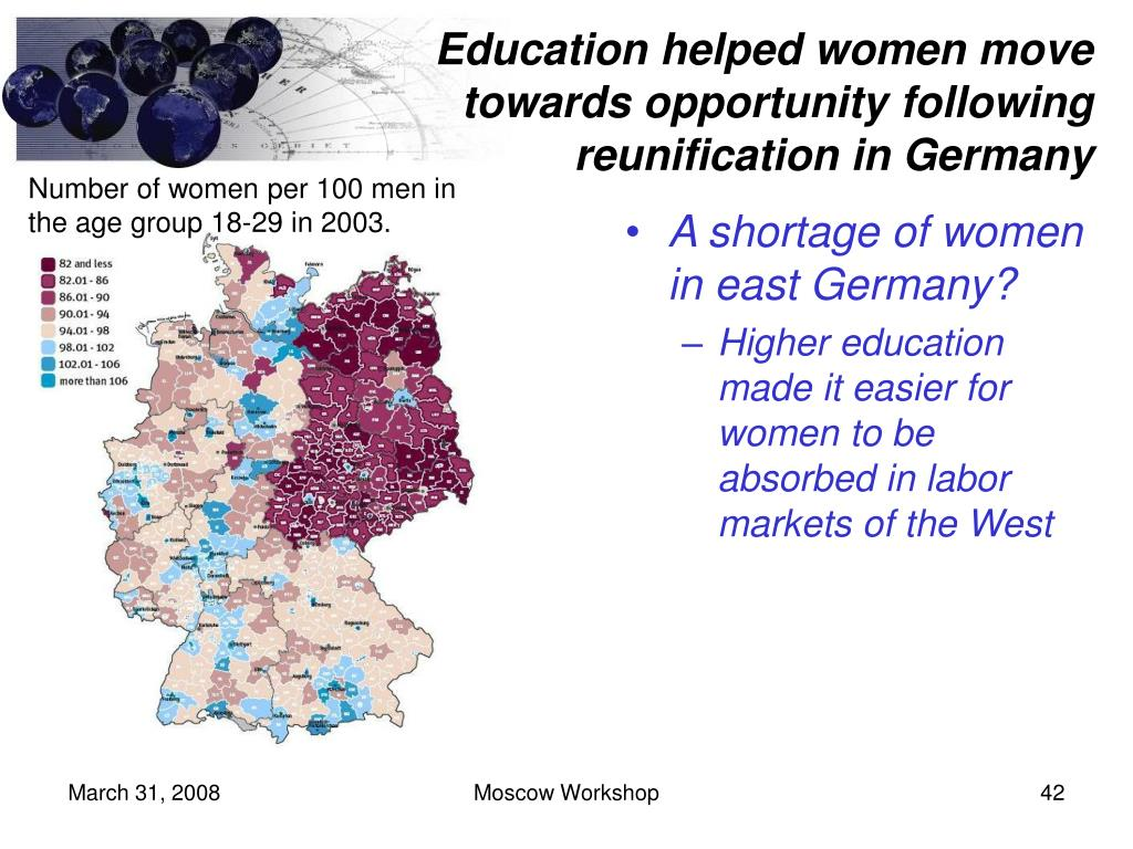 Education helped women move towards opportunity following reunification in Germany