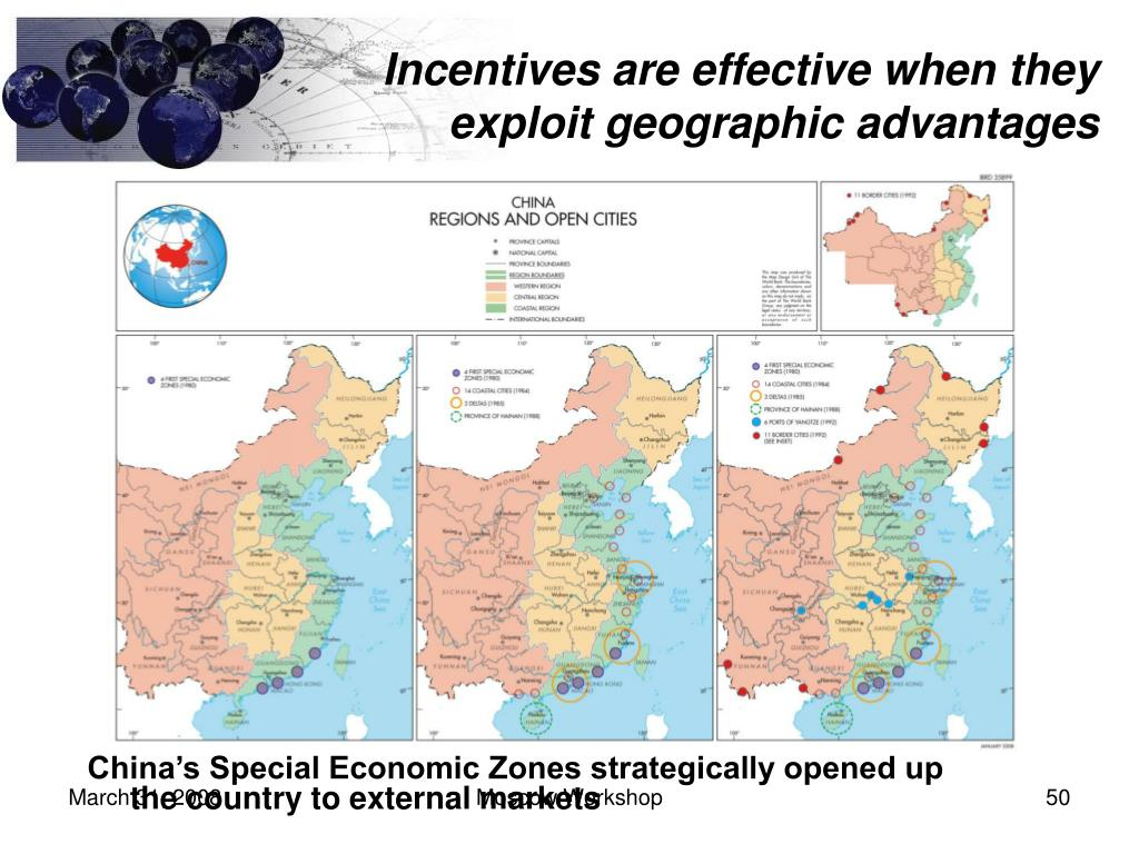 Incentives are effective when they exploit geographic advantages
