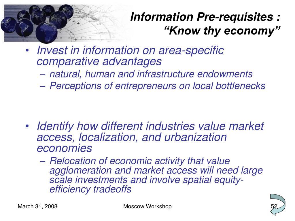 Information Pre-requisites :