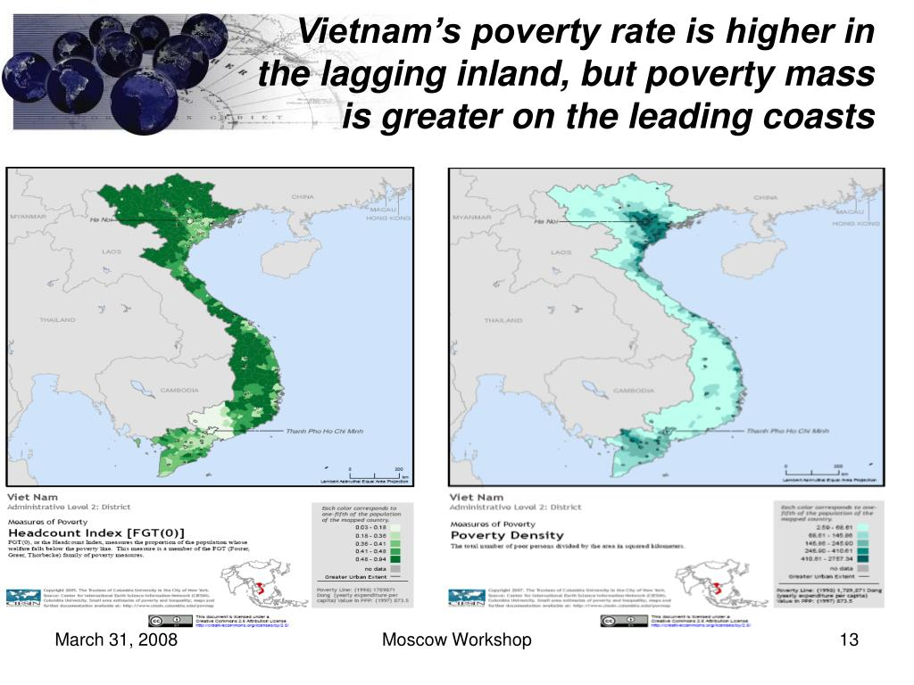 Vietnam's poverty rate is higher in the lagging inland, but poverty mass is greater on the leading coasts
