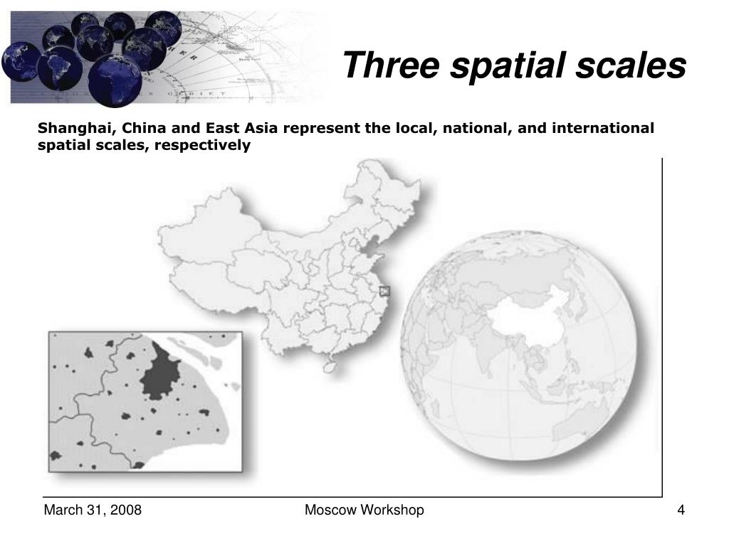 Three spatial scales