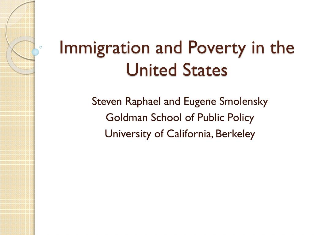 immigration and poverty in the united states