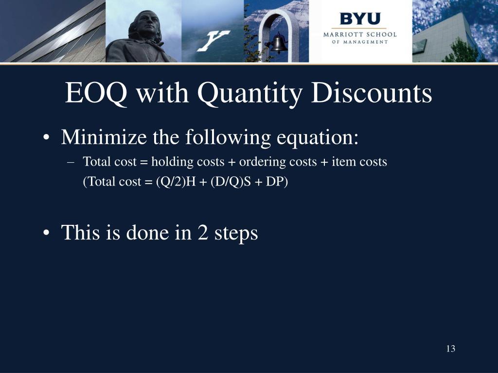 economic order quantity eoq model pdf