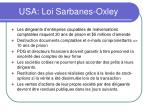 usa loi sarbanes oxley