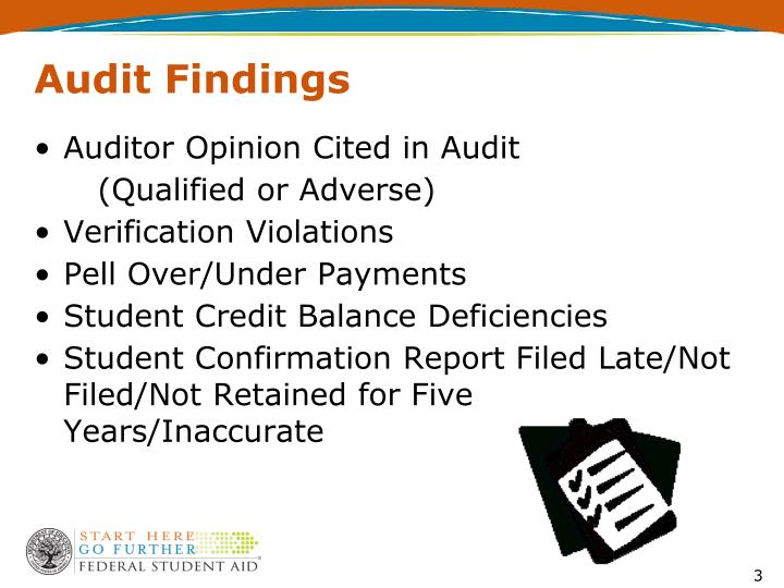 Audit findings3