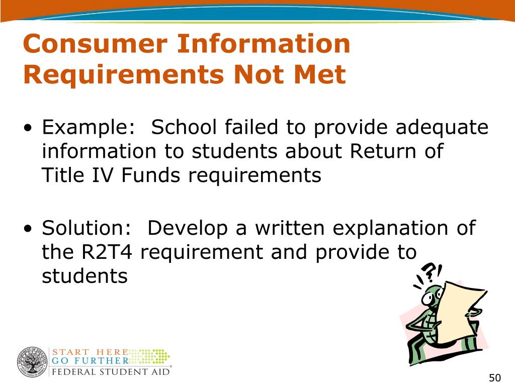 Consumer Information Requirements Not Met