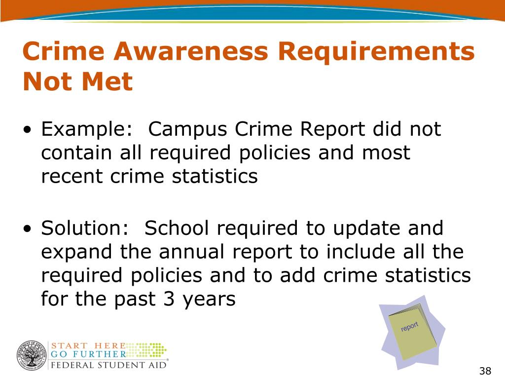 Crime Awareness Requirements Not Met