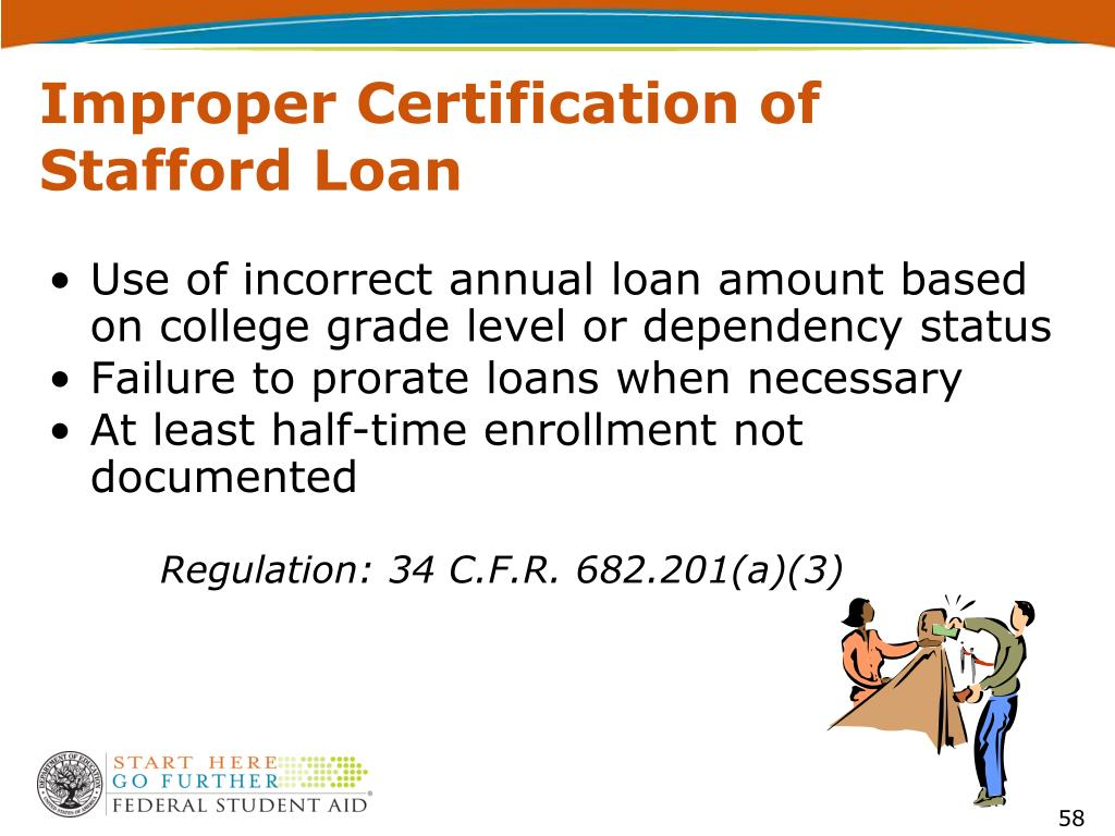 Improper Certification of Stafford Loan